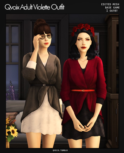 Violette Outfit at qvoix – escaping reality image 2521 Sims 4 Updates