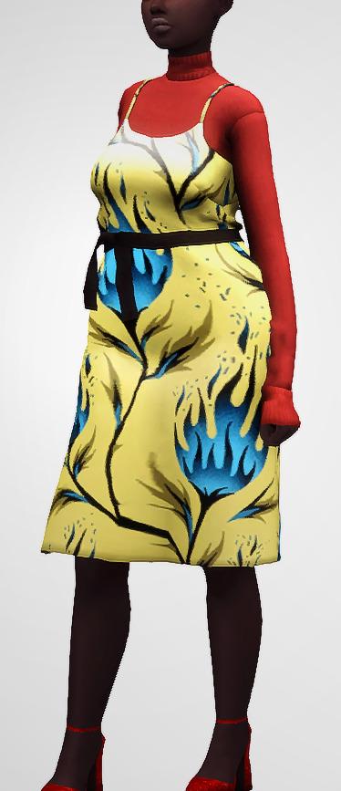 Milano Dress at Nyuska image 2561 Sims 4 Updates