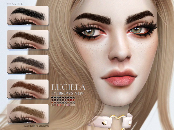 Lucilla Eyebrows N139 by Pralinesims at TSR image 26 Sims 4 Updates