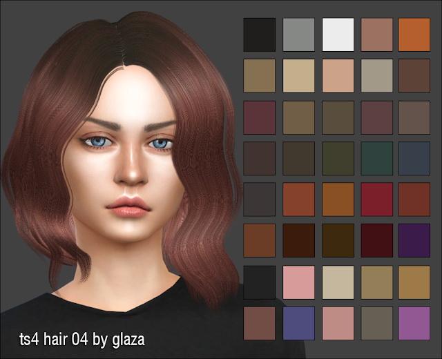 Sims 4 Hair 04 at All by Glaza