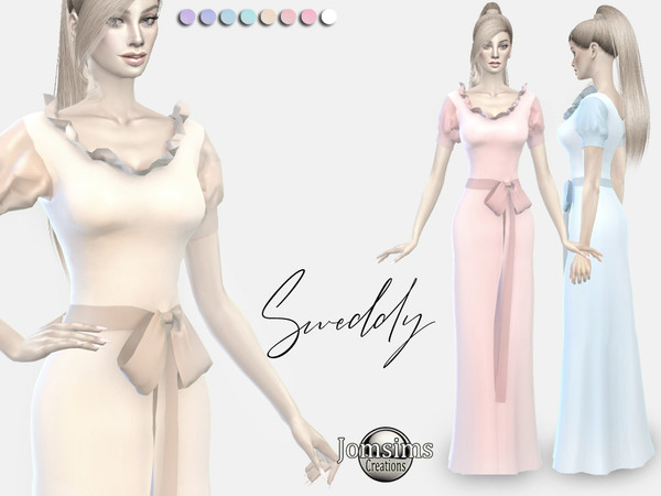Sweddy dress by jomsims at TSR image 2616 Sims 4 Updates