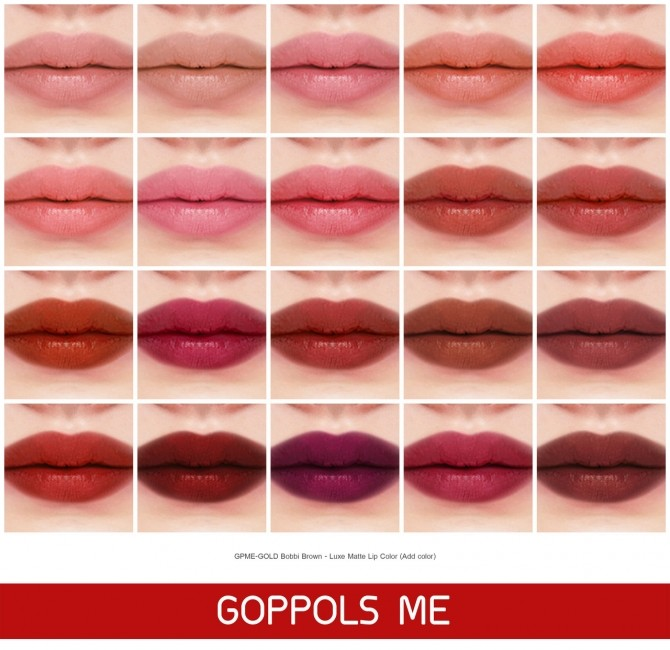Luxe Matte Lip Color at GOPPOLS Me image 2631 670x650 Sims 4 Updates