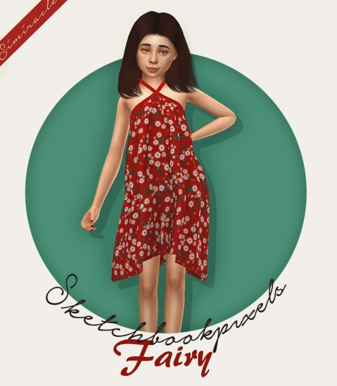 Sketchbookpixels Fairy 3T4 ruffled cross over dress for kids at Simiracle image 2641 670x767 Sims 4 Updates