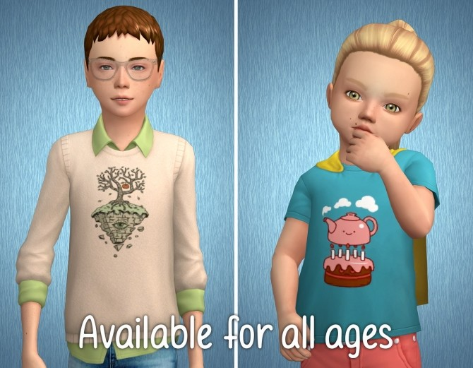 Acc Prints for T shirts Part 9 at Tukete image 2661 670x521 Sims 4 Updates