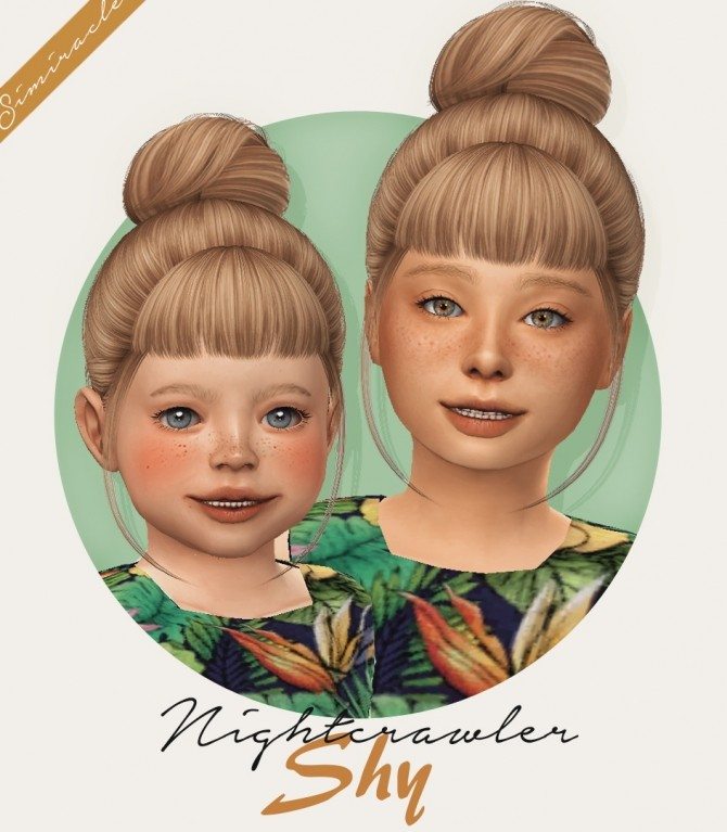 Nightcrawlers Shy hair for kids and toddlers at Simiracle image 2702 670x767 Sims 4 Updates