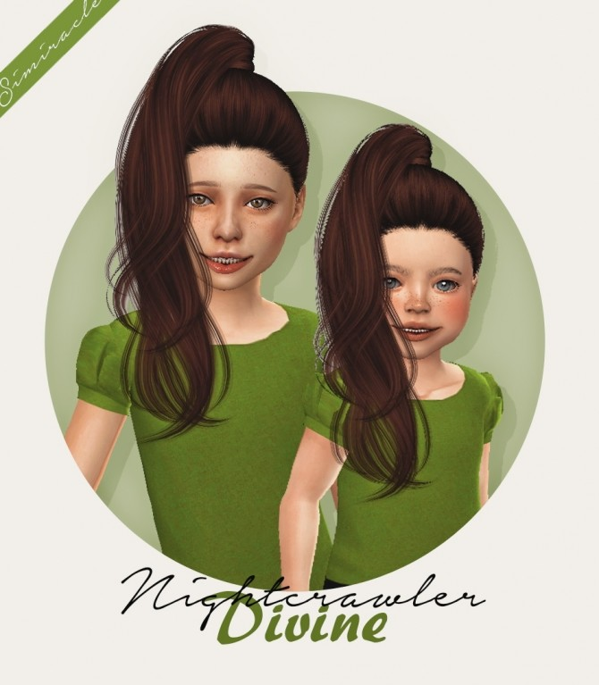 Nightcrawlers Divine hair for kids and toddlers at Simiracle image 27110 670x767 Sims 4 Updates