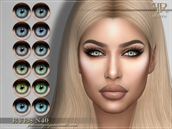 Sims 4 FRS Eyes N40 by FashionRoyaltySims at TSR