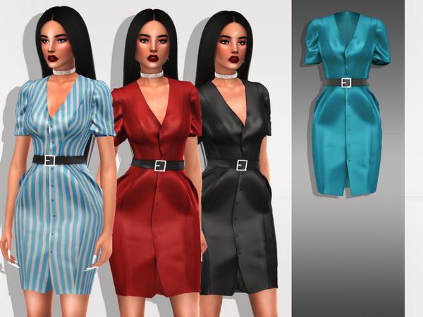 Belaloallure Rema dress by belal19972 at TSR image 2725 Sims 4 Updates