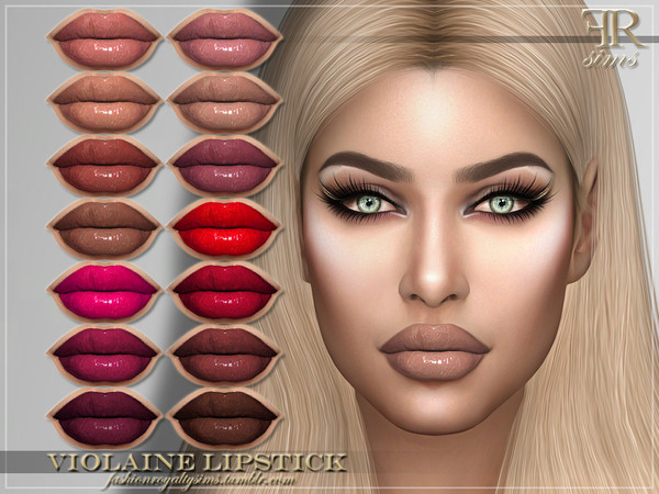 FRS Violaine Lipstick by FashionRoyaltySims at TSR image 2726 Sims 4 Updates