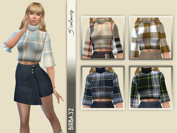 Sims 4 Short sweater by Birba32 at TSR