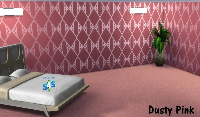 Sims 4 SP09 Vintage Glamour Shine Bright Like a Diamond walls by wendy35pearly at Mod The Sims