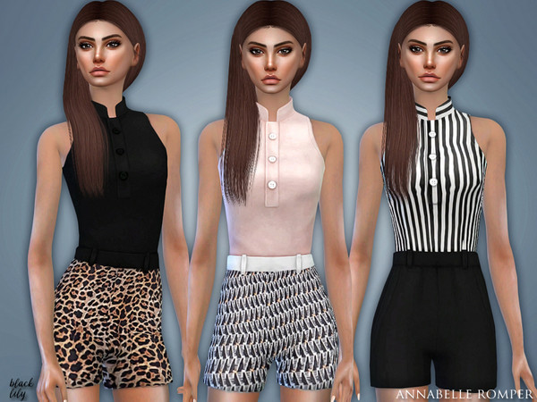 Annabelle Romper by Black Lily at TSR image 2823 Sims 4 Updates