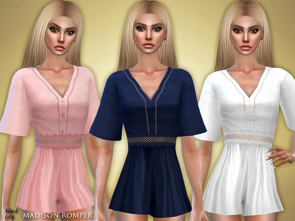 Sims 4 Madison Romper by Black Lily at TSR