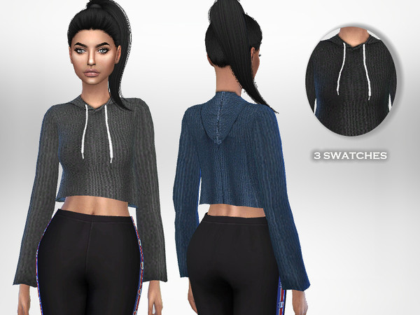 Ribbed Hoodie by Puresim at TSR image 2915 Sims 4 Updates