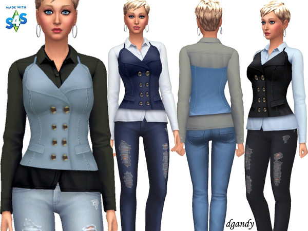 Sims 4 Top and Vest J201901 10 by dgandy at TSR