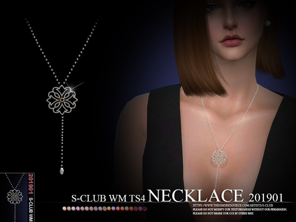 Sims 4 Necklace 201901 by S Club WM at TSR