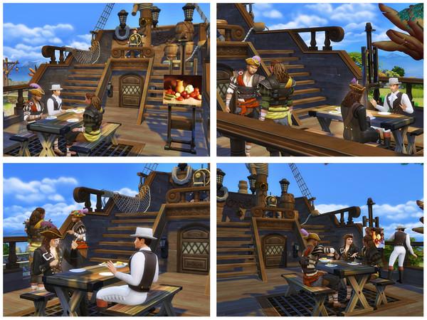 Sims 4 Lady Washington pirate ship by Danuta720 at TSR