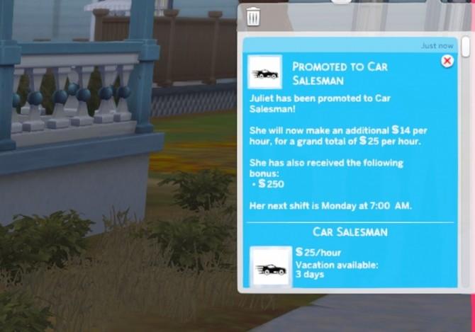 Sims 4 Car Salesman Career at KAWAIISTACIE