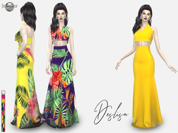 Deslisa dress by jomsims at TSR image 3014 Sims 4 Updates