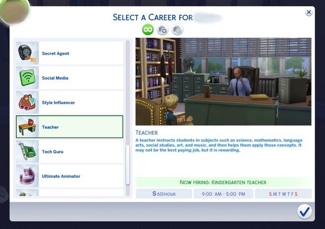 Sims 4 Teacher Career by ellenplop at Mod The Sims
