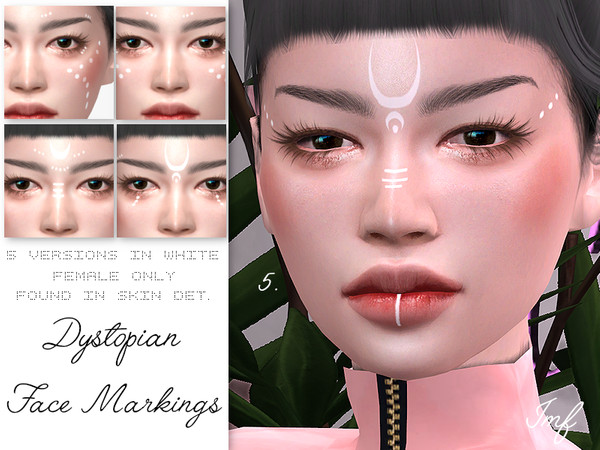 Sims 4 IMF Dystopian Face Markings by IzzieMcFire at TSR