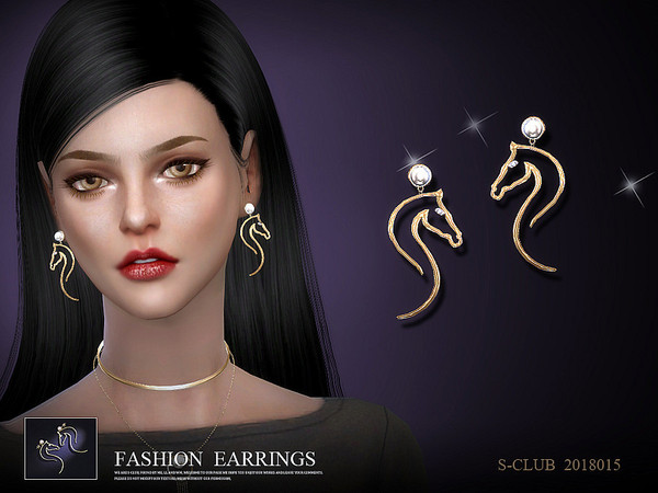 Earrings 201815 by S Club LL at TSR image 31 Sims 4 Updates