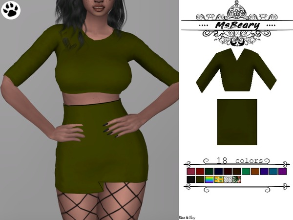 Sims 4 Two Piece Outfit by MsBeary at TSR