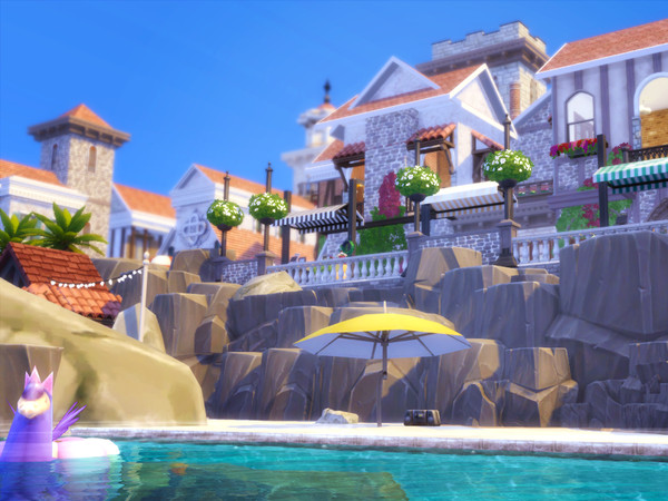 Italian Beach Village by kaibellvert at TSR image 3107 Sims 4 Updates