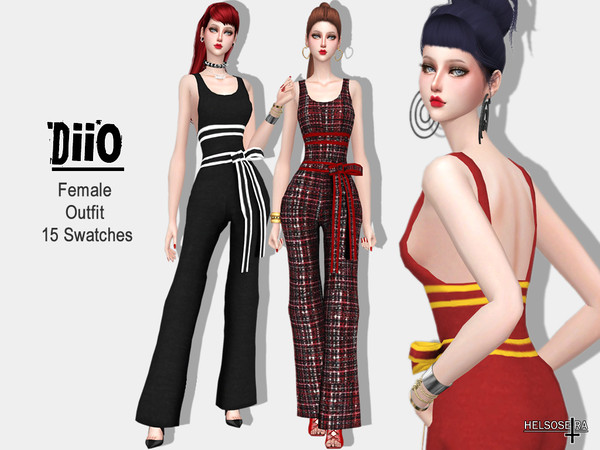 Sims 4 DIIO Outfit by Helsoseira at TSR