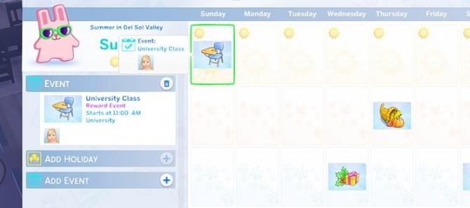Sims 4 University Class Event at KAWAIISTACIE