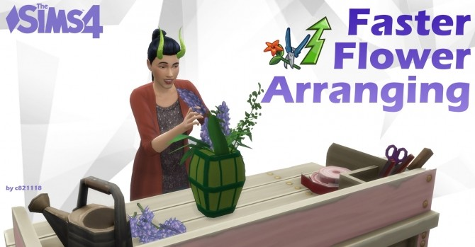 Sims 4 Faster Flower Arranging by c821118 at Mod The Sims