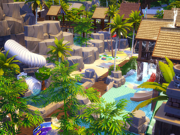 Sims 4 Tropical Amusement Park & Water Park by kaibellvert at TSR