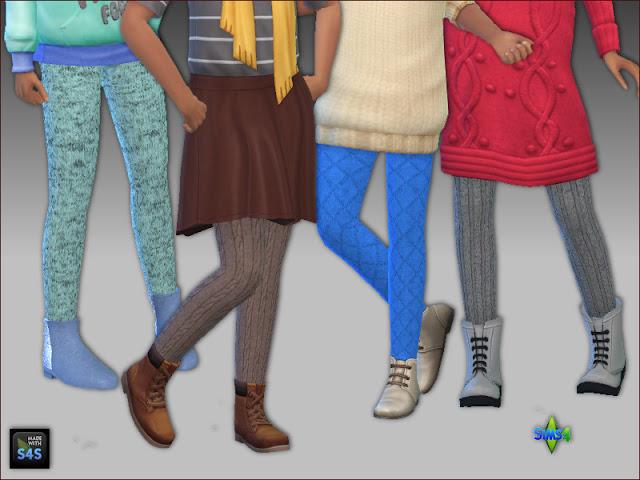 Sims 4 Tights for girls by Mabra at Arte Della Vita