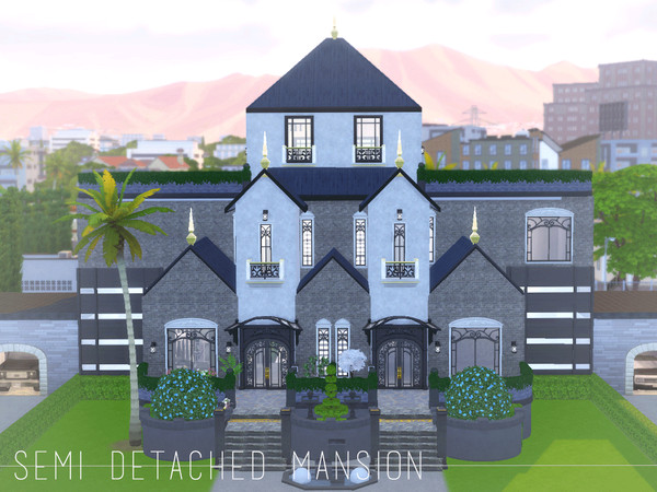 Semi Detached Modern Family Mansion by CandanceLakes at TSR image 3171 Sims 4 Updates