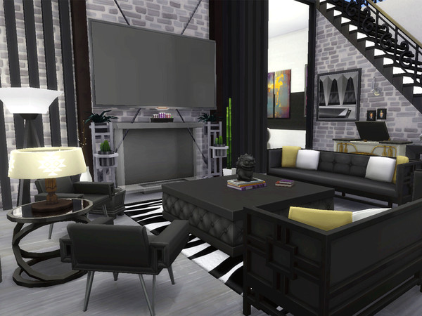 Semi Detached Modern Family Mansion by CandanceLakes at TSR image 3181 Sims 4 Updates