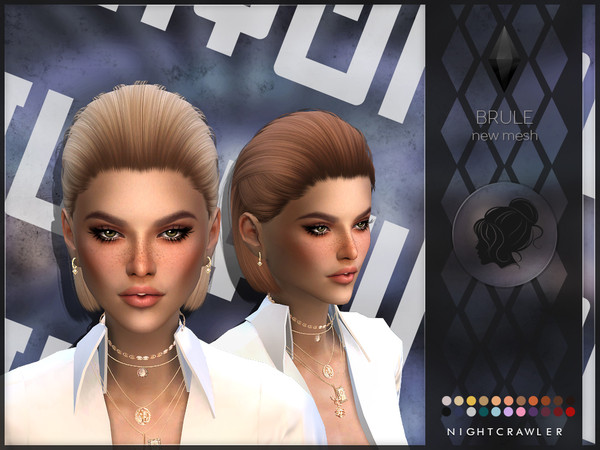 Sims 4 Brule hair by Nightcrawler Sims at TSR