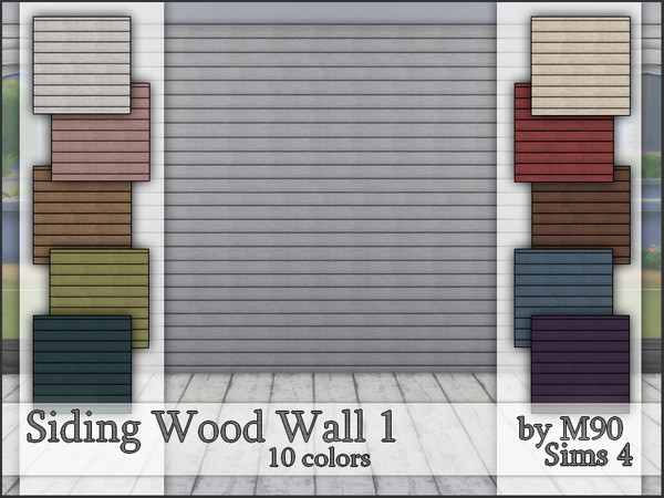 M90 Siding Wood Wall 1 by Mircia90 at TSR image 3219 Sims 4 Updates
