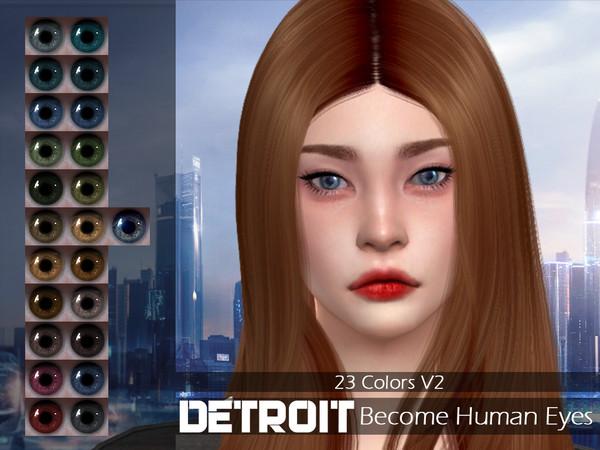 Sims 4 LMCS Detroit Become Human Eyes V2 by Lisaminicatsims at TSR