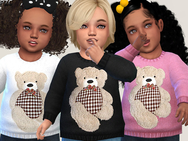 Little Bear Sweater 02 by Pinkzombiecupcakes at TSR image 3311 Sims 4 Updates