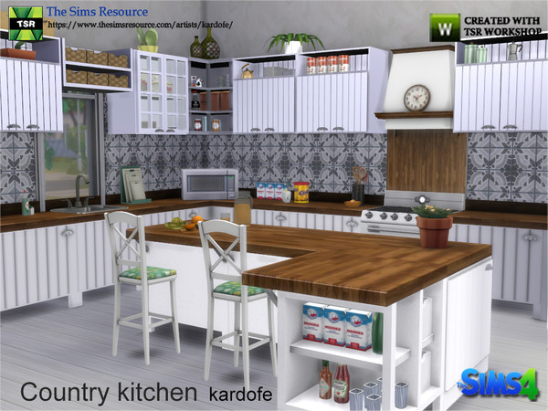 Country kitchen by kardofe at TSR image 3315 Sims 4 Updates