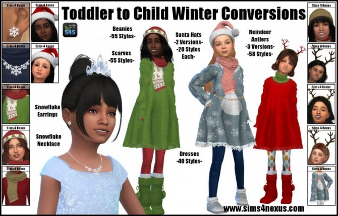 Winter Conversion for kids by SamanthaGump at Sims 4 Nexus image 335 670x429 Sims 4 Updates