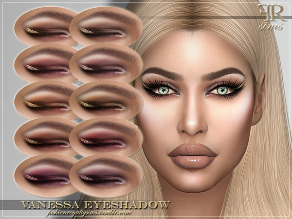 Sims 4 FRS Vanessa Eyeshadow by FashionRoyaltySims at TSR