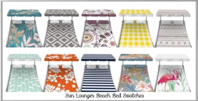 Sims 4 Sun Lounger Beach Bed at Simthing New