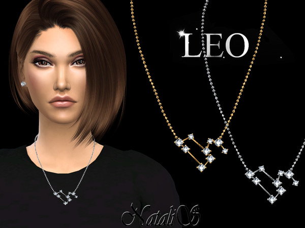 Leo zodiac necklace by NataliS at TSR image 3425 Sims 4 Updates