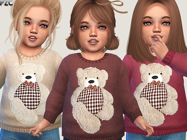 Little Bear Sweater 02 by Pinkzombiecupcakes at TSR image 344 Sims 4 Updates