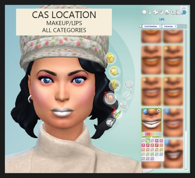 Light Frosties Lip Gloss 23 Colours by Simmiller at Mod The Sims image 348 670x611 Sims 4 Updates