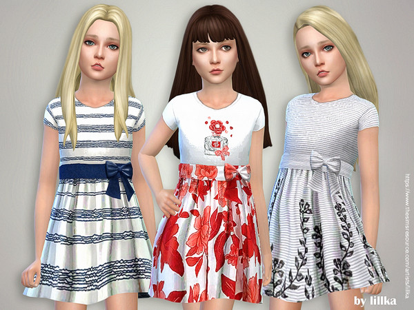 Designer Dresses Collection P117 by lillka at TSR image 3491 Sims 4 Updates