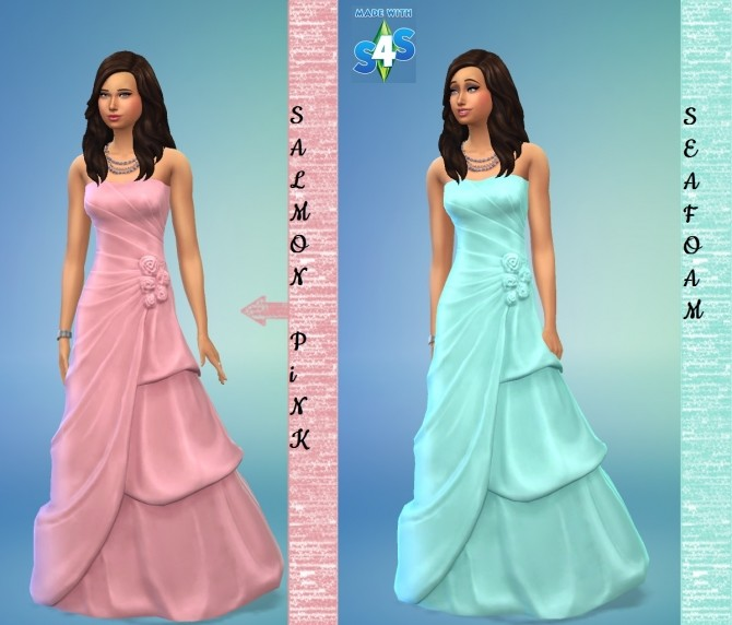 Sims 4 Tiered Wedding Dress 7 Recolours by wendy35pearly at Mod The Sims