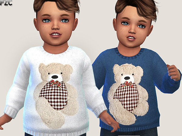 Little Bear Sweater 02 by Pinkzombiecupcakes at TSR image 353 Sims 4 Updates