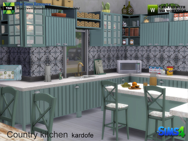 Country kitchen by kardofe at TSR image 357 Sims 4 Updates